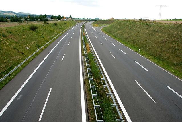 pohled na dálnici